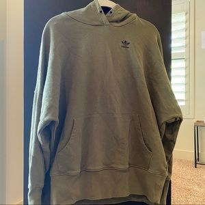 Army green adidas sweatshirt